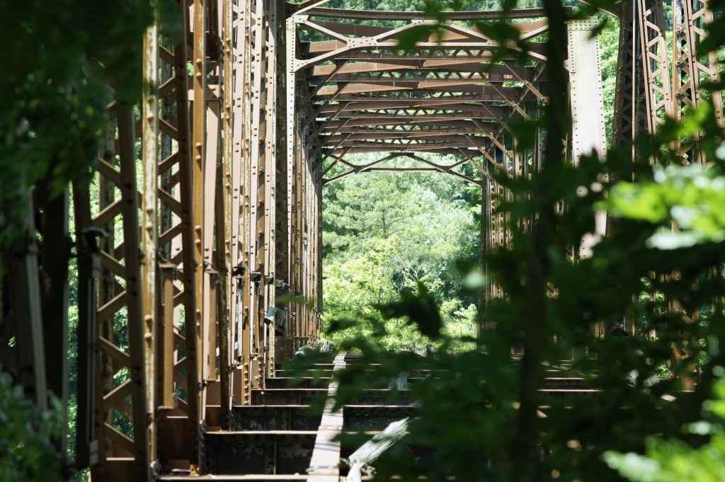 旧柴崎橋~磐越西線・上野尻駅近くの大廃鉄橋