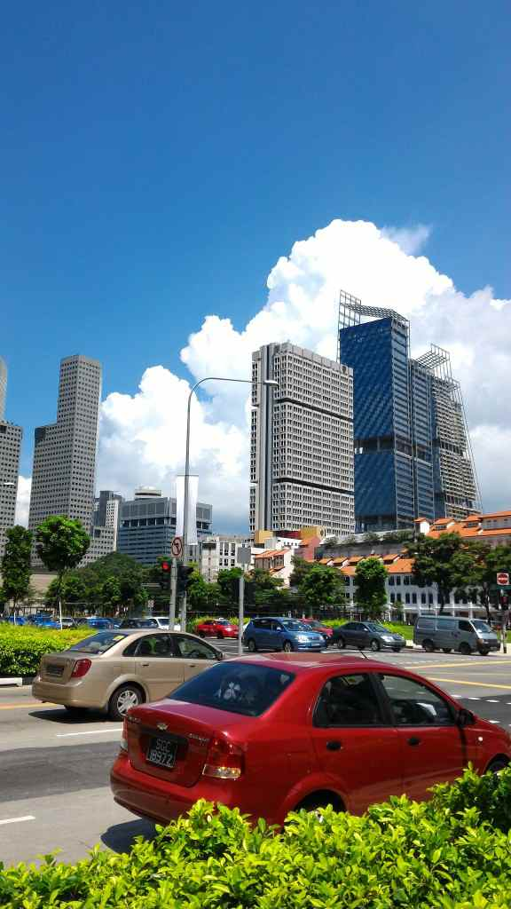 シンガポールの町中を撮る