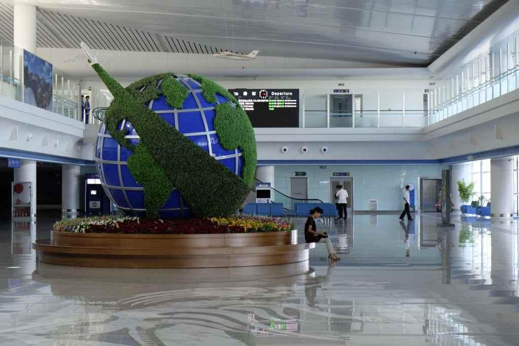 平壌空港の出発階