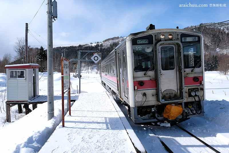 列車が入ってきた糠南駅