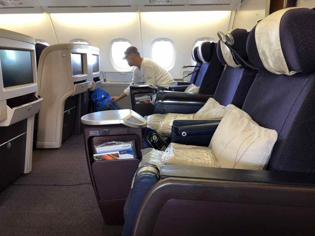 マレーシア航空・ビジネスクラスのシートを横から