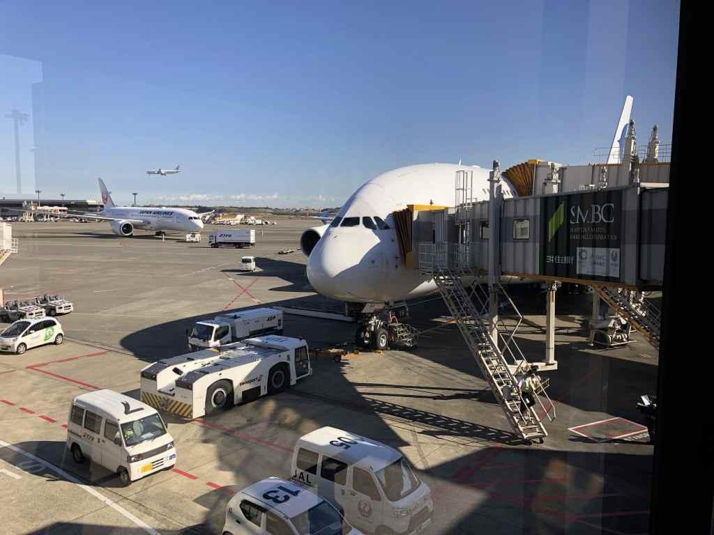 マレーシア航空のA380を間近から
