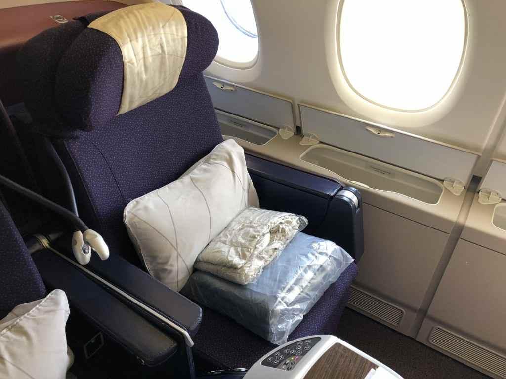 マレーシア航空のA380・ビジネスクラスのシート
