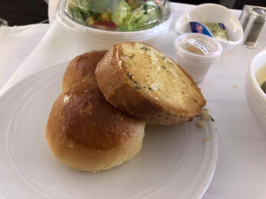 マレーシア航空・ビジネスクラスの機内食のパン