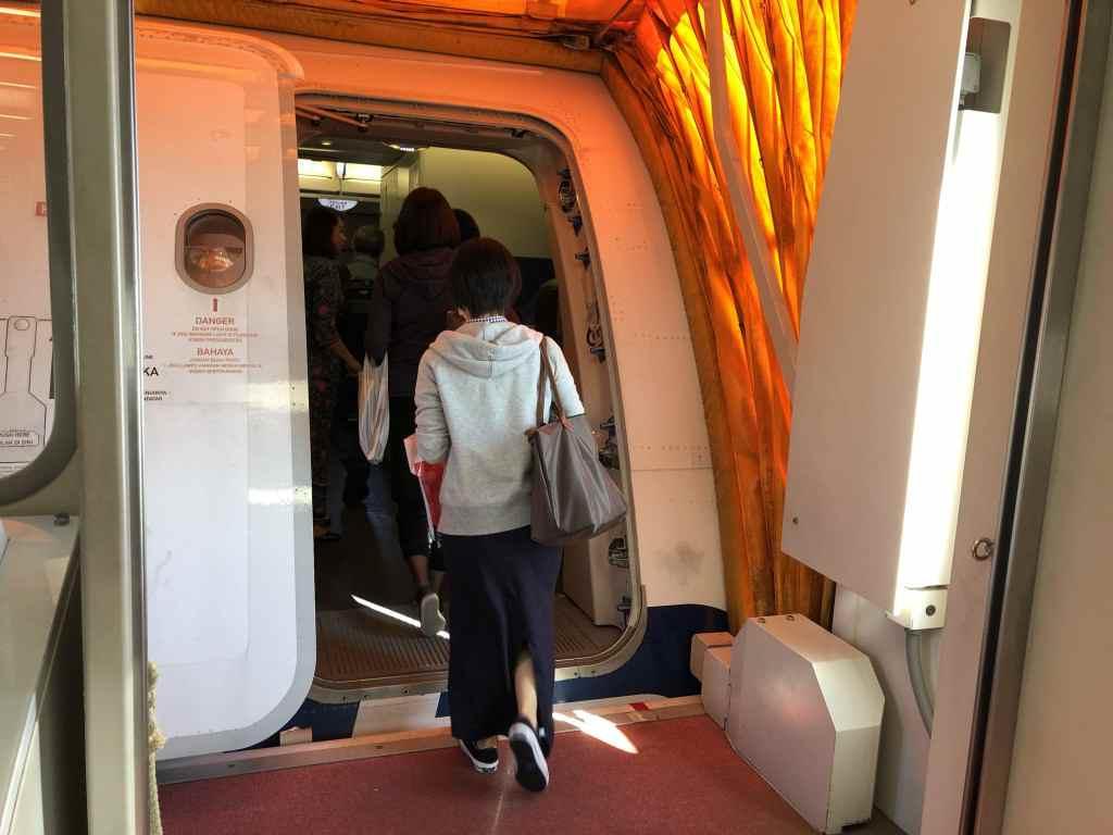 マレーシア航空のA380・搭乗口