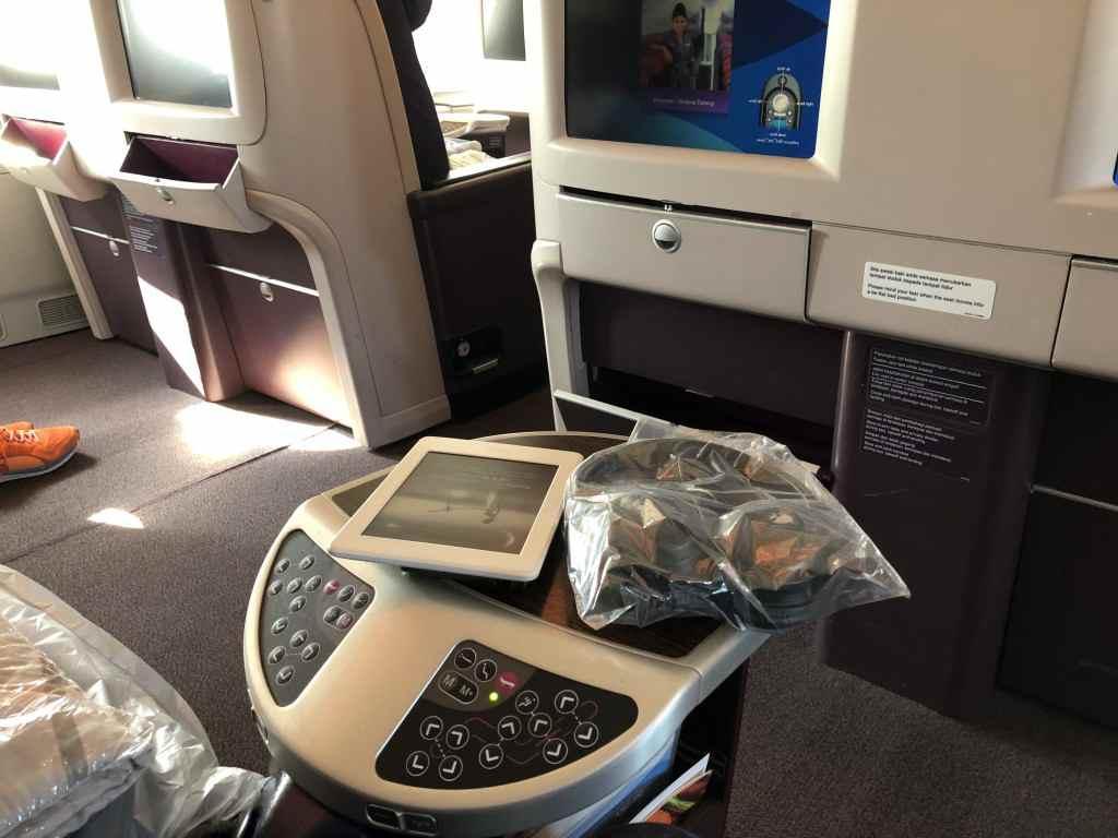 マレーシア航空のA380・ビジネスクラスのシートコントローラー