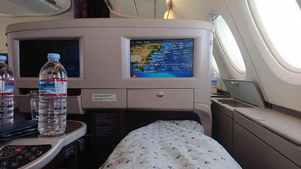 A380は寝転がれる