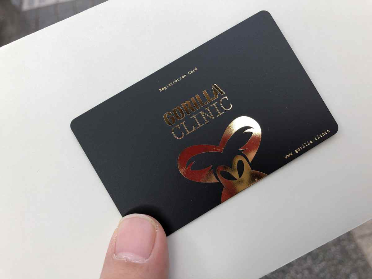 ゴリラクリニックの予約カード