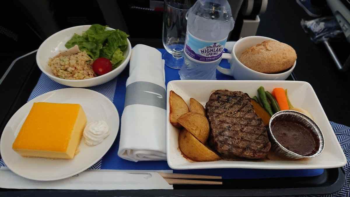 ブリティッシュエアウェイズ プレミアムエコノミーの機内食