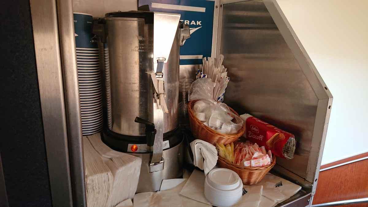 アムトラックのコーヒー