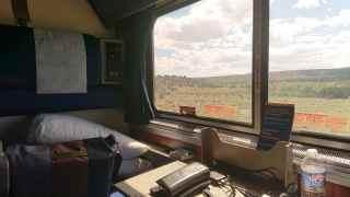 アムトラック・ルーメットの車窓