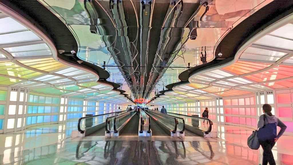 オヘア空港の渡り廊下