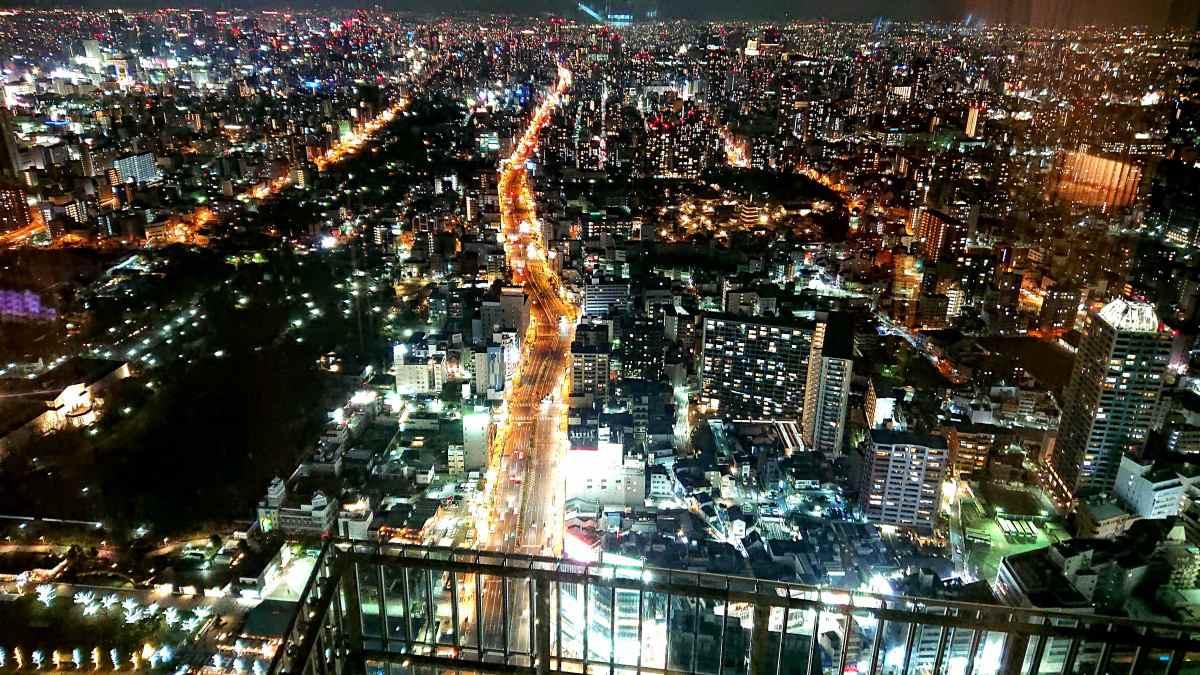 マリオット大阪都ホテルからの夜景