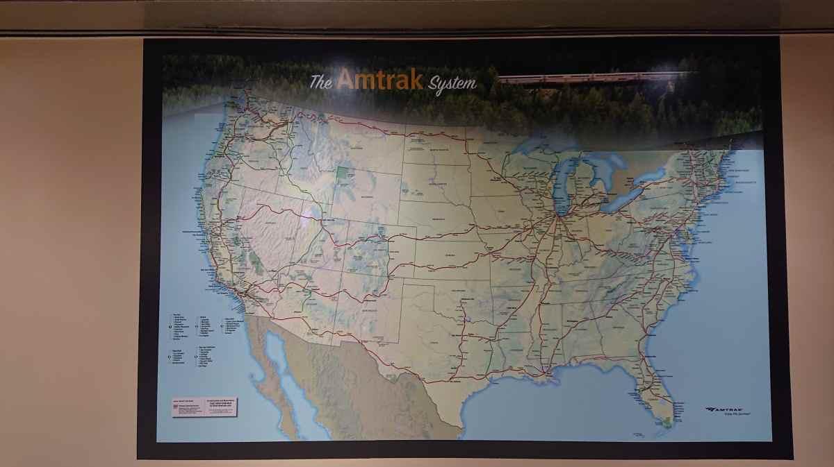 アムトラック路線図