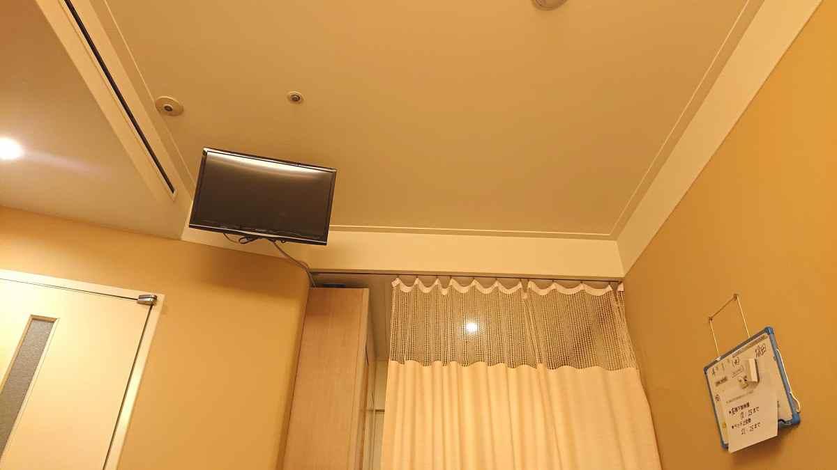 病室のテレビ