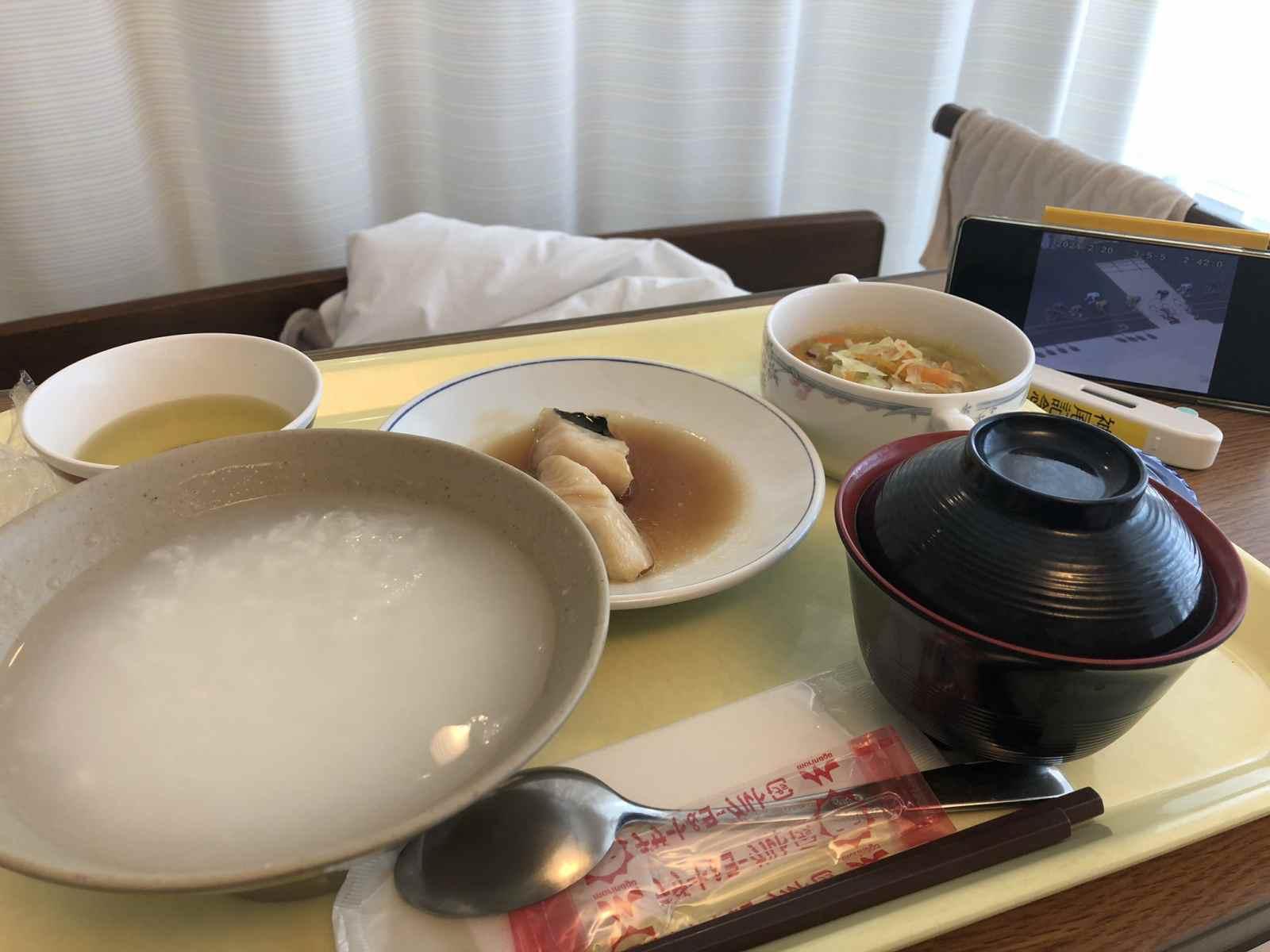 入院5日目の昼飯